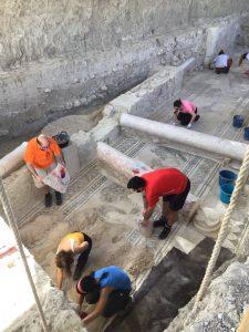 Comienzo de los trabajos de protección de mosaicos