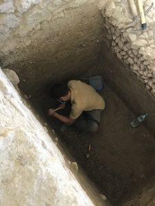 Julio, arqueólogo del equipo de excavición de la Villa Romana de Salar