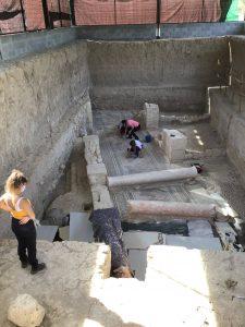 Limpieza de mosaicos y protección en Villa Romana de Salar