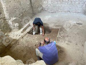 Julio Román y Julio Ramos arqueólogos De la Villa Romana de Salar