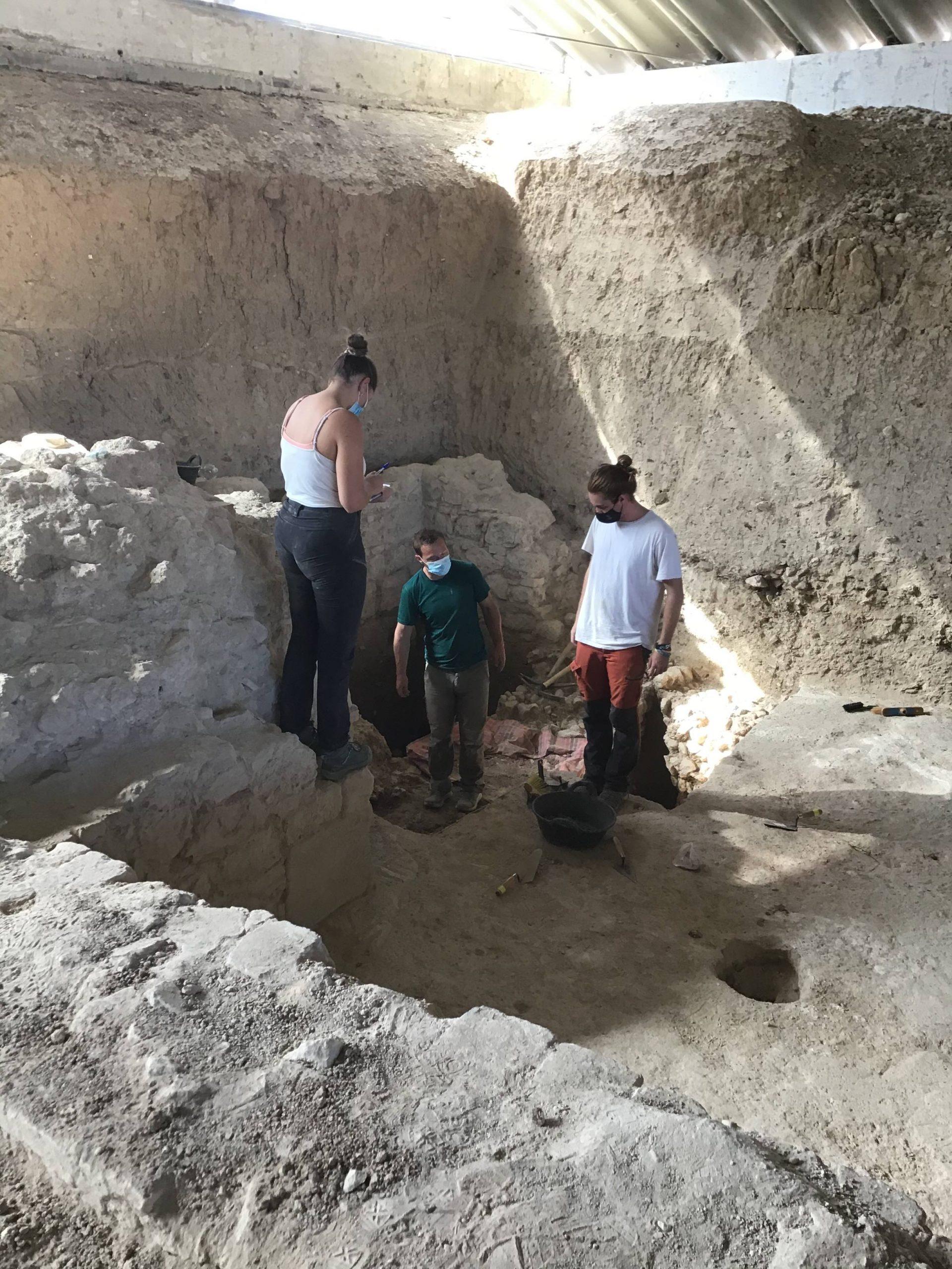 Zona A sondeo. Análisis de los resultados al final de la excavación