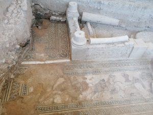 Resultado del sondeo 4 en la Villa Romana de Salar