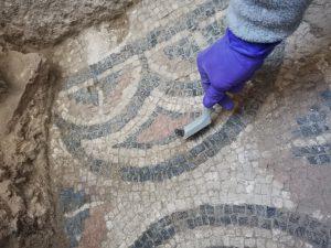 Limpieza superficial de mosaicos