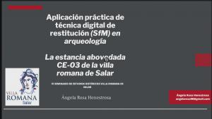 Fotogrametría, presentación de Ángela
