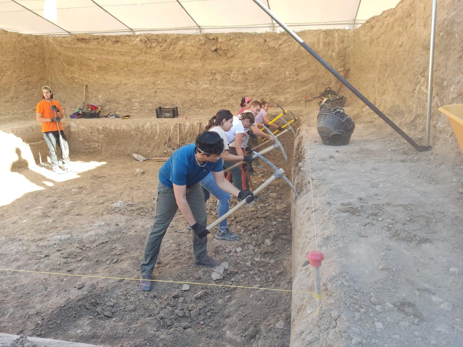 FIn de la primera semana de excavación