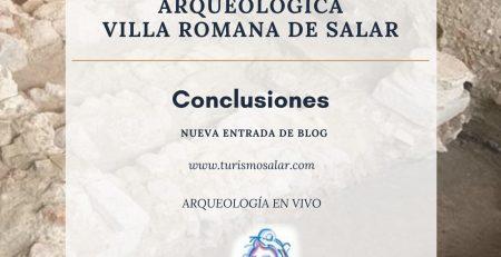 Conclusiones VI Campaña arqueología Villa romana de SALAR